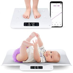Greater Goods Smart Baby Scale, Bluetooth Connected Device, Toddler Scale, Pet Scale, Infant Scale with Hold Function (White)