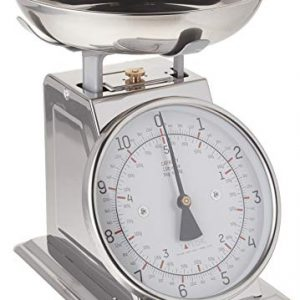 Taylor Precision Products Taylor Stainless Steel Analog Kitchen Scale, 11 Lb. Capacity, Silver