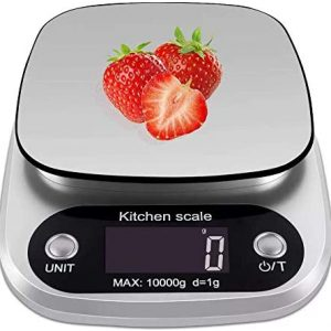 XDFEWFJH Kitchen Scale 22lb by 0.05 oz Weight Grams with Easy Clean Stainless Steel