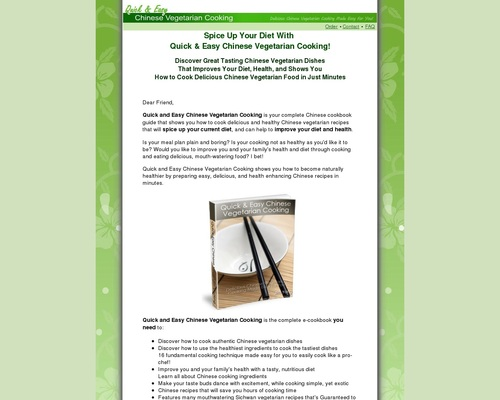 Chinese Vegetarian Cooking – Healthy, Low Fat Chinese Vegetarian Cookbook And Recipes