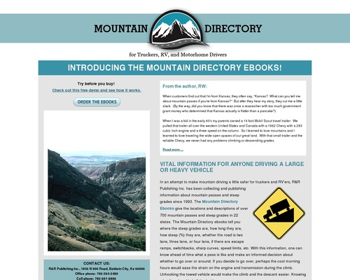 Mountain Driving Guide for Truckers, RV and Motorhome Drivers
